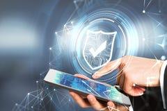 Conceito da segurança do Cyberspace fotos de stock royalty free