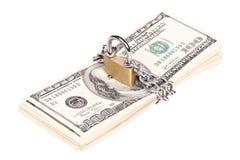 Conceito da segurança do dinheiro Imagem de Stock
