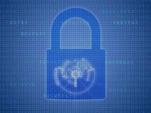 Conceito da segurança do Internet Imagens de Stock