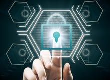 Conceito da segurança do Internet Fotografia de Stock