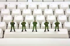 Conceito da segurança dos dados do computador Imagens de Stock Royalty Free