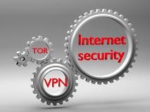 Conceito da segurança e da criptografia de tráfego no Internet Imagens de Stock