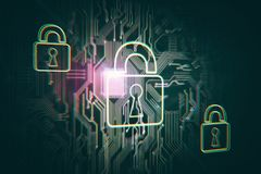 Conceito da segurança e do Internet foto de stock