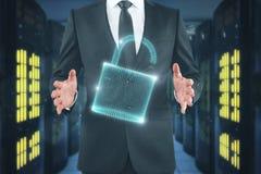 Conceito da segurança e da Web Foto de Stock Royalty Free