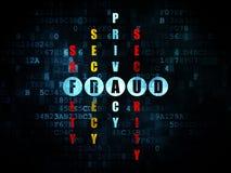 Conceito da segurança: fraude da palavra em resolver palavras cruzadas ilustração royalty free