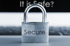 Conceito da segurança informática Foto de Stock Royalty Free
