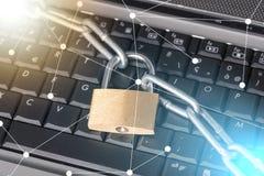 Conceito da segurança informática, efeito da luz imagens de stock royalty free