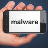 Conceito da segurança: Malware no smartphone Imagens de Stock Royalty Free