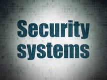 Conceito da segurança: Sistemas de segurança no fundo do papel dos dados de Digitas Foto de Stock