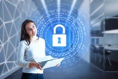 Conceito da segurança da Web Imagens de Stock
