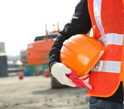 Conceito da segurança de construção Imagem de Stock Royalty Free