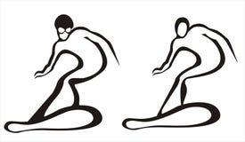 Conceito da snowboarding ilustração stock