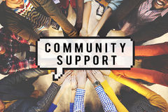 Conceito da sociedade da unidade da conexão do apoio comunitário Imagens de Stock
