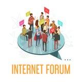 Conceito da sociedade do fórum ilustração royalty free