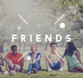 Conceito da sociedade dos colegas da amizade dos amigos imagem de stock