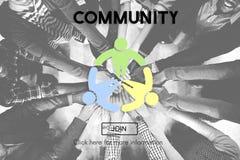 Conceito da sociedade da rede do grupo social da comunidade imagens de stock