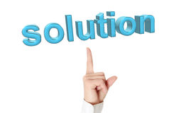 Conceito da solução. Imagens de Stock