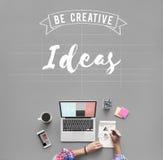 Conceito da sugestão da estratégia do objetivo de projeto das ideias Fotografia de Stock