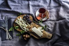 Conceito da tabela de café da manhã Estilo de vida, cozinhando Fotos de Stock