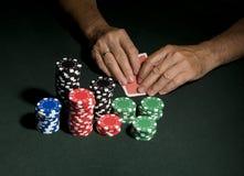 Conceito da tabela do póquer do casino fotos de stock