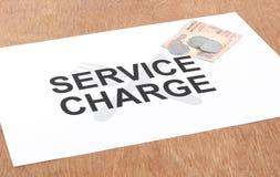 Conceito da taxa de serviço Fotografia de Stock Royalty Free