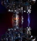 Conceito da tecnologia alto - a instalação da tecnologia ilustração 3D imagem de stock royalty free
