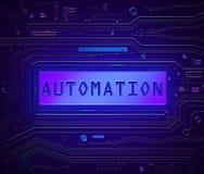 Conceito da tecnologia da automatização Foto de Stock