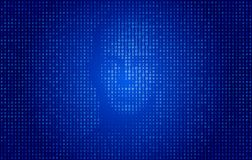 Conceito da tecnologia da cara do código binário ilustração stock