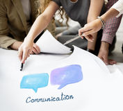 Conceito da tecnologia da conversação de uma comunicação da bolha do discurso fotos de stock royalty free