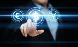 Conceito da tecnologia da finança da operação bancária do negócio da moeda do dólar Imagem de Stock
