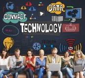 Conceito da tecnologia da inovação do Internet de Digitas dos dados da tecnologia imagens de stock royalty free