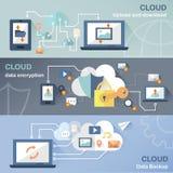 Conceito da tecnologia da nuvem Imagens de Stock