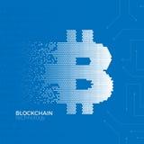 Conceito da tecnologia de Blockchain Imagens de Stock
