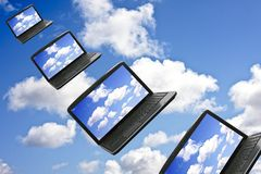 Conceito da tecnologia de computação da nuvem