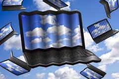 Conceito da tecnologia de computação da nuvem Fotos de Stock Royalty Free