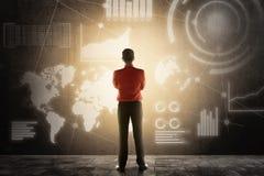 Conceito da tecnologia de Digitas imagem de stock royalty free