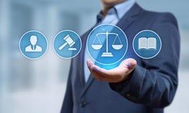 Conceito da tecnologia de Legal Business Internet do advogado da lei laboral fotos de stock royalty free