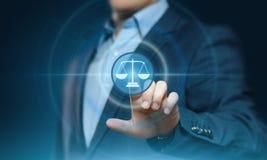 Conceito da tecnologia de Legal Business Internet do advogado da lei laboral fotos de stock