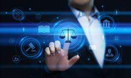 Conceito da tecnologia de Legal Business Internet do advogado da lei laboral imagens de stock royalty free