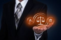 Conceito da tecnologia de Legal Business Internet do advogado da lei laboral foto de stock royalty free