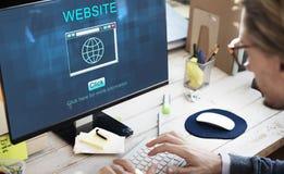 Conceito da tecnologia de SEO Online Website Web Hosting foto de stock