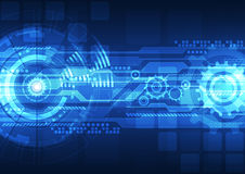 Conceito da tecnologia digital do vetor, fundo abstrato Imagens de Stock Royalty Free