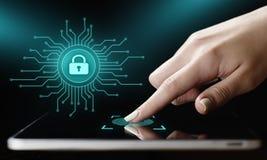 Conceito da tecnologia do Internet do negócio da privacidade da segurança do Cyber da proteção de dados foto de stock royalty free