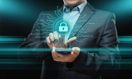 Conceito da tecnologia do Internet do negócio da privacidade da segurança do Cyber da proteção de dados Imagem de Stock Royalty Free