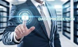 Conceito da tecnologia do Internet do negócio da privacidade da segurança do Cyber da proteção de dados Imagem de Stock