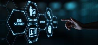 Conceito da tecnologia do Internet do negócio da carreira de Job Search Human Resources Recruitment foto de stock royalty free