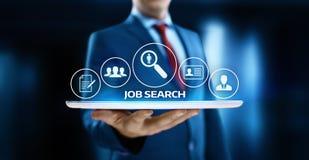 Conceito da tecnologia do Internet do negócio da carreira de Job Search Human Resources Recruitment fotos de stock