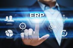 Conceito da tecnologia do Internet do negócio da gestão de Empresa Recurso Planeamento ERP Incorporado Empresa Imagens de Stock