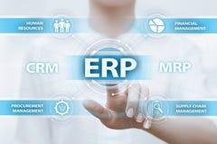 Conceito da tecnologia do Internet do negócio da gestão de Empresa Recurso Planeamento ERP Incorporado Empresa Fotografia de Stock Royalty Free