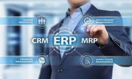 Conceito da tecnologia do Internet do negócio da gestão de Empresa Recurso Planeamento ERP Incorporado Empresa Foto de Stock Royalty Free